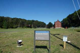 View of Peddocks Island welcome center