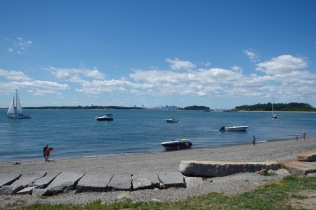 Beach on Georges Island