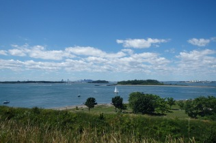 View of Boston from Georges Island