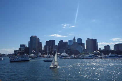 Awesome view of downtown Boston from the harbor!