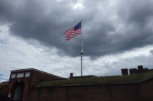 Star Spangled Banner flying proudly over Fort McHenry